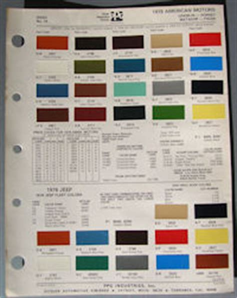 jeep color code chart autos post