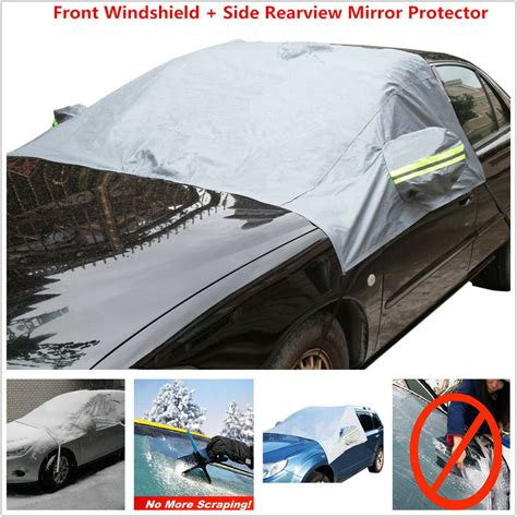 car front windshield side mirror sun snow frost ice protector tarp flap cover ebay