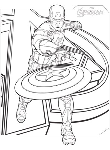 avengers cartoon coloring pages avengers captain america coloring page free printable