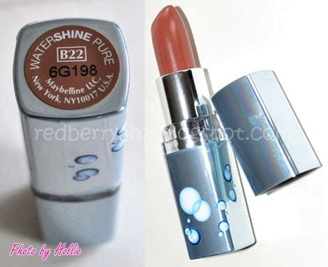 Maybelline Watershine Lipstick random by hollie review maybelline watershine