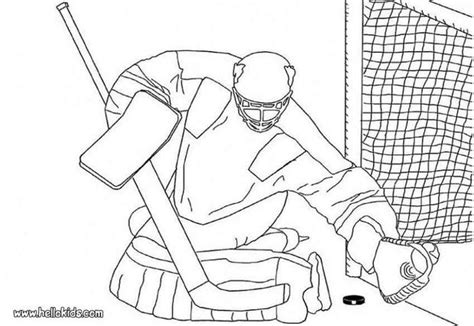 winter sport coloring pages hockey goalkeeper