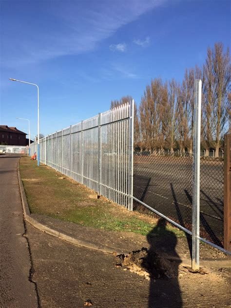 large fence large security fence project in lincolnshire oakfield uk ltd peterborough fencing