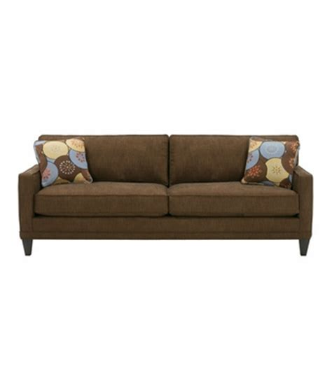Apartment Sized 2 Cushion Queen Sleeper Sofa W Squared Arms Apartment Sofa Sleeper