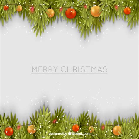 merry garland template merry background with garland vector free