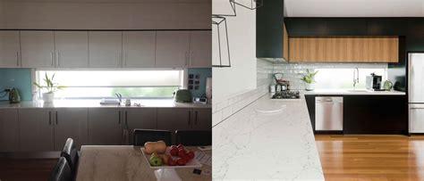 premier kitchen design caesarstone white attica dulux domino black kitchen design