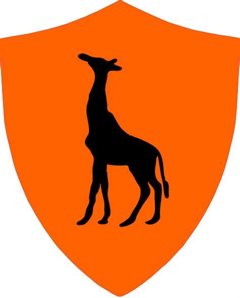 giraffe crest logo clip at clker vector clip