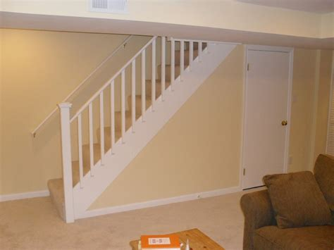 How To Install A Stair Banister by Basement Stair Railing Design Basement Stair Railing