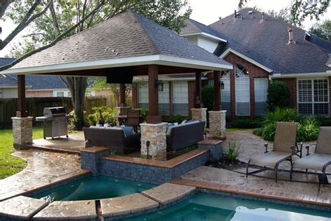 freestanding patio covers gazebo pool cabanas houston