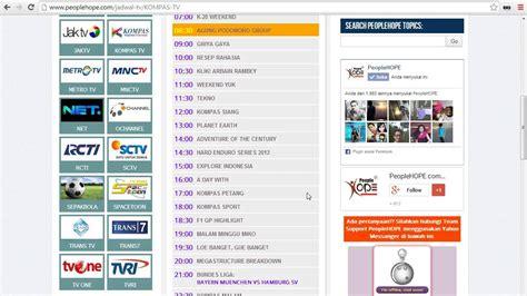 Tv Hari Ini jadwal acara tv hari ini kompas tv sabtu 14 desember 2013