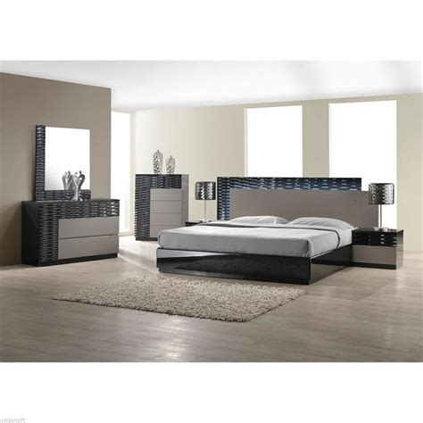 Size Bedroom Sets by Modern King Size Bed Platform Frame W Led Lighting