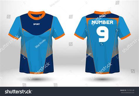 sport t shirt design templates blue layout football sport tshirt design stock vector