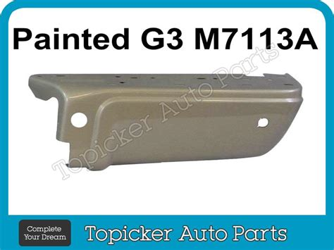 painted pueblo gold g3 m7113a rear bumper ends w 6pc for 08 10 f250 f350 ebay
