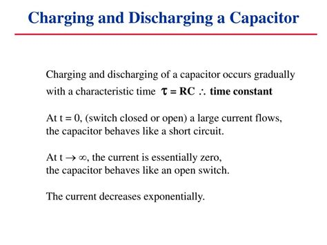 charging and discharging of capacitor ppt ppt capacitors in circuits powerpoint presentation id 6906