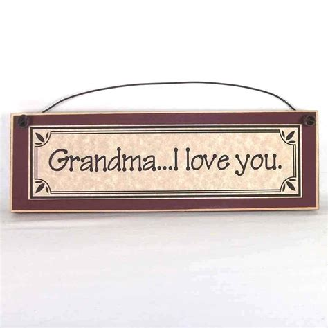 home decor signs and plaques grandma i love you grandmother gift primitive plaques