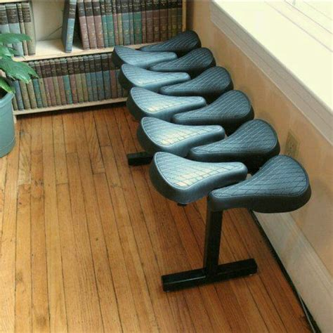 bicycle bench seat 24 best images about repurposed salvaged bike parts on