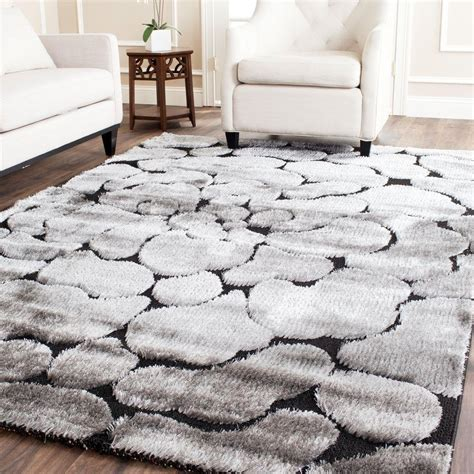 8 x 12 rug home depot safavieh miami shag black gray 8 ft 6 in x 12 ft area rug sg353 9080 9 the home depot