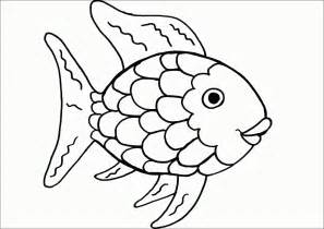 rainbow fish template coloring home