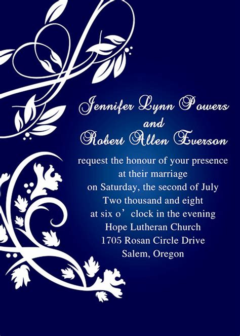 7 Awesome Wedding Invitations by Wedding Invitation Background Designs Royal Blue 7