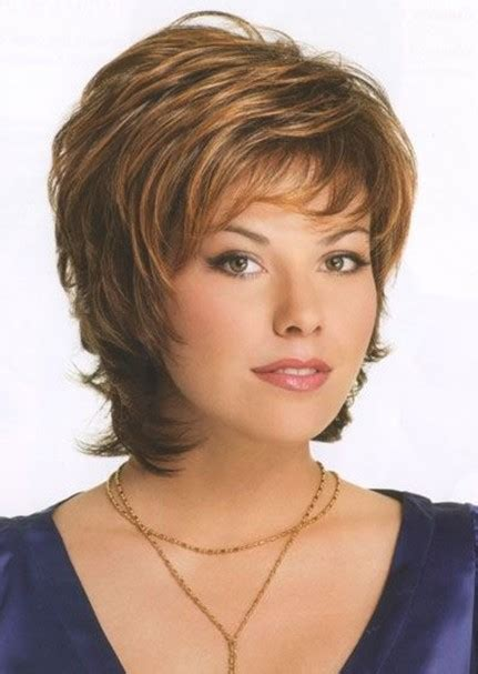 medium shag cut for older women feathered hairstyles for women over 50