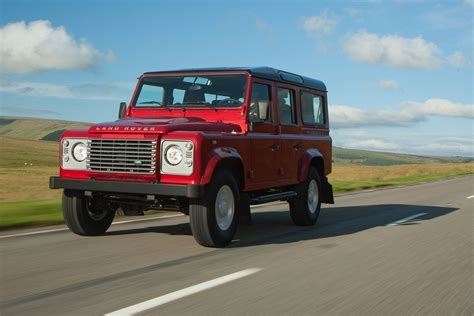 red land rover defender land rover defender 110 station wagon xs 2016 review by