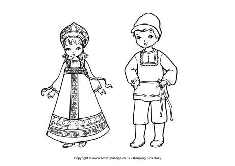 russian boy coloring page russian children colouring page