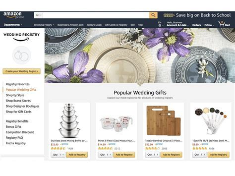 The best wedding registry ? pros and cons of Amazon, Zola