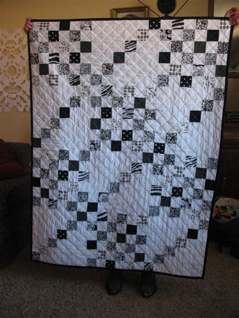 Black And White Patchwork Quilt - creative a baby black and white