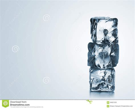 stacked cubes crystal l frozen crystal ice cubes isolated over white stock