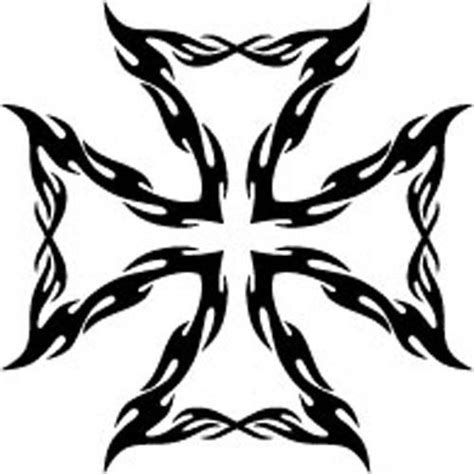 iron cross tattoo designs tribal iron cross vinyl decal sticker car truck