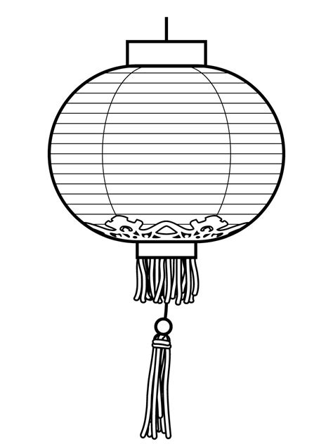 new year lantern drawing lanterns drawing clipart best