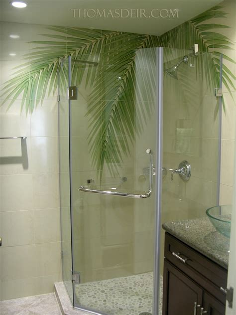 bathroom tile murals bath and shower designs tile murals with coconut tree