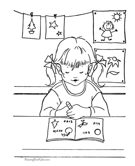 School Coloring Page 005 Printable Coloring Pages For Middle School