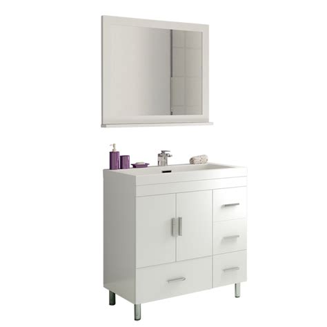 alya bath at 8050 w 30 quot single modern bathroom vanity white