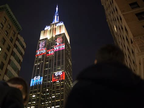 empire state lights today the empire state building is lighting up to display
