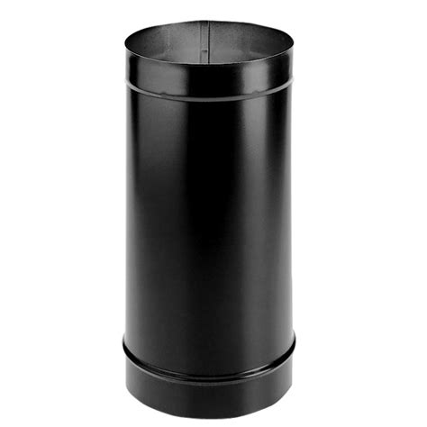 Chimney Duct Pipe - duravent durablack 6 in x 24 in single wall chimney