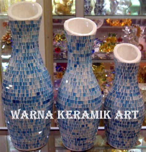 Souvenir Guci Kecil Antik Wka99 jual guci keramik biru mozaik wka99 harga murah jakarta