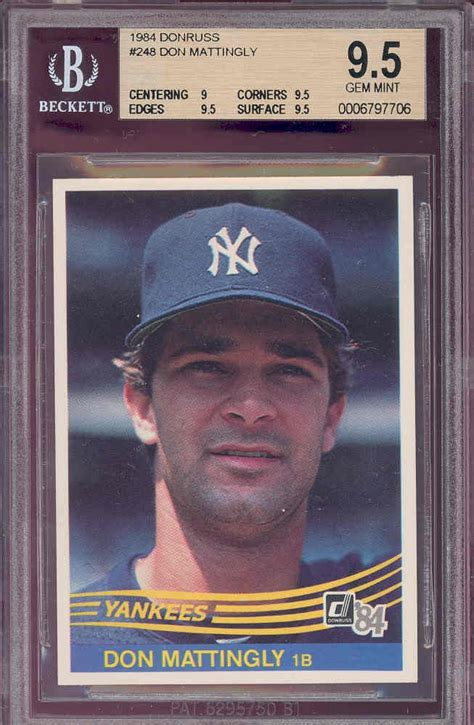 Don Mattingly Rookie Card by Don Mattingly Donruss Rookie Card Baseball Heroes