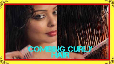 how to comb diva curl hair how to comb curly hair curly hair routine youtube
