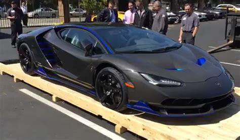 car lamborghini blue first lamborghini centenario arrives in the united states