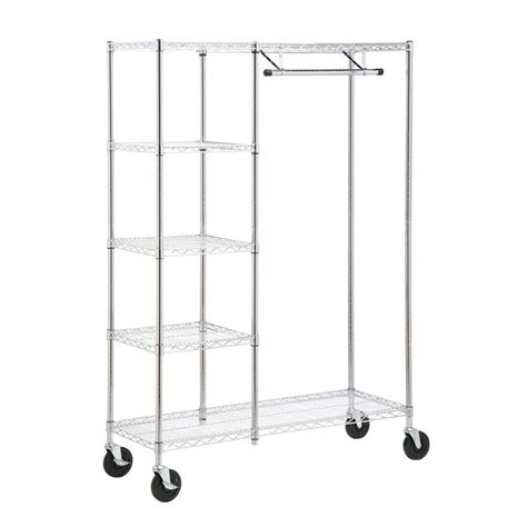 Closet Racks Home Depot by Seville Classics Garment Racks Portable Wardrobes