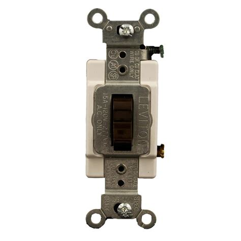 The Switch Brown leviton 15 commercial grade 3 way toggle switch brown cs315 2 the home depot
