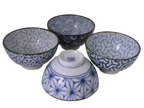 Unique Kitchen Canisters modern japanese geometric ceramic white and blue rice