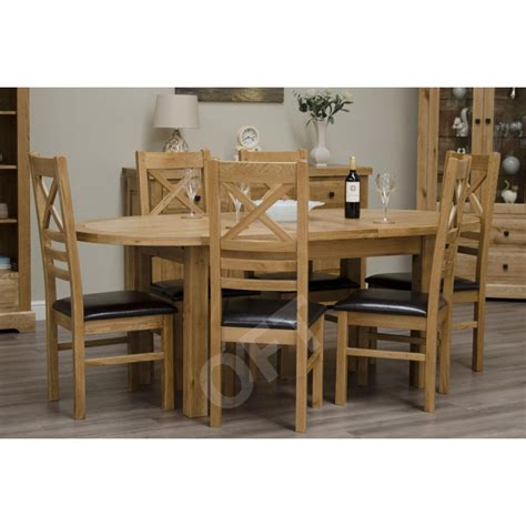 Montero Oval Extending Dining Table And Six Chairs Set Solid Oak Extending Dining Table And 6 Chairs