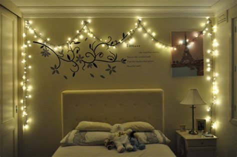 decorating room with christmas lights1