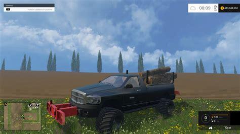 cummins pickup bed log truck for fs15 farming simulator fs 15 mods pickup truck related keywords fs 15 mods