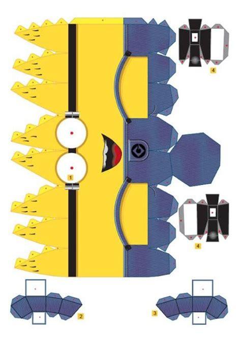 printable minion template minions 3d para imprimir gratis figuras de papel