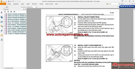 hino dutro workshop repair manual including wiring diagram