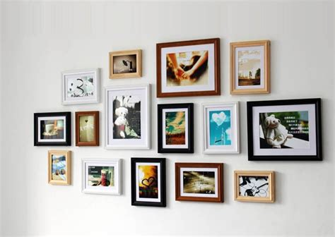 home wall display wood photo picture frame wall collage wooden multi picture