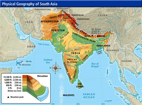 asia map geography south asia physical geography thinglink