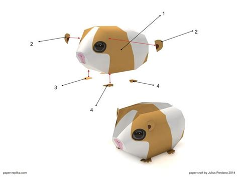 How To Make Easy Paper Toys - guinea pig simple paper craft thứ cần mang